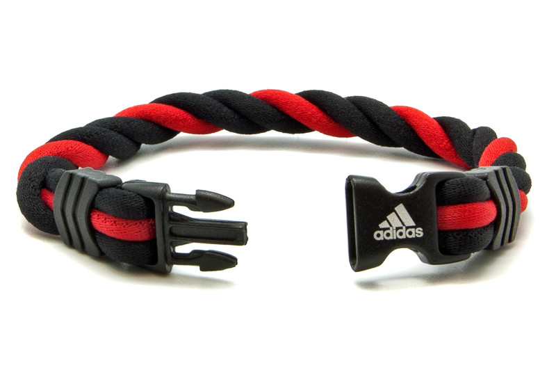 Adidas Braided Ionic Wristband - Red