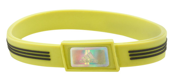 Lime adidas Sports Bracelet - front
