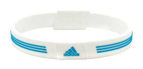 White adidas Sports Bracelet - back