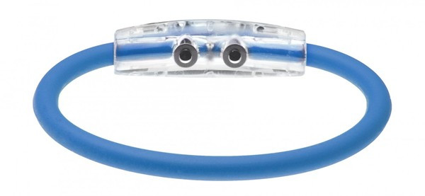 The IonLoop US Air Force Bracelet contains negative ions and magnets. (back view)