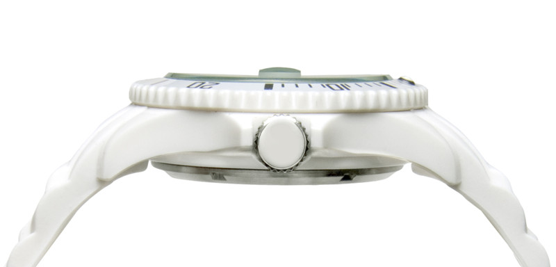 White Unisex IonTime  Sport Wrist Watch (Side)