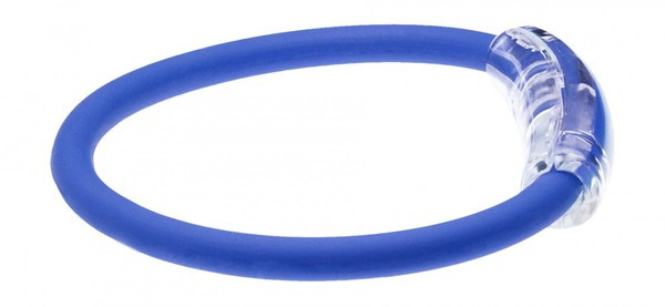 IonLoop Ryder Cup Team Europe Flag Bracelet contains negative ions and magnets. (side view)