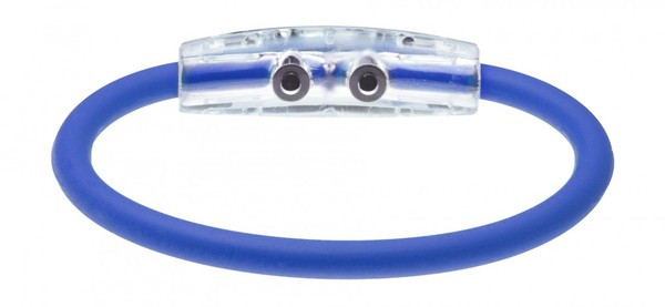IonLoop Ryder Cup Team Europe Flag Bracelet contains negative ions and magnets. (back view)