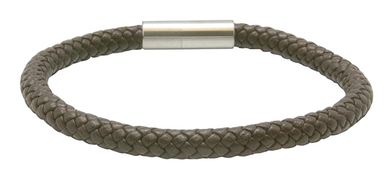 Saddle Brown Leather Bracelet (back)