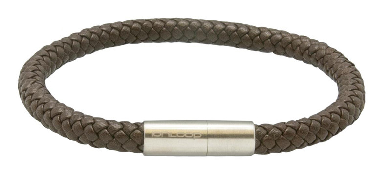Saddle Brown Leather Bracelet (front)