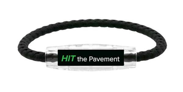 IonLoop Hit the Pavement Cycling Bracelet (front view)