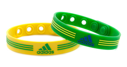 Yellow & Green adidas Adjustable Bracelet - front