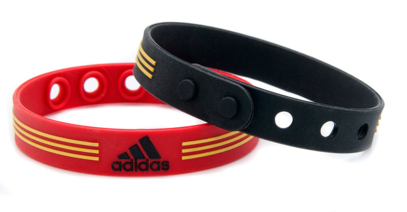 Red & Black adidas Adjustable Bracelet - back