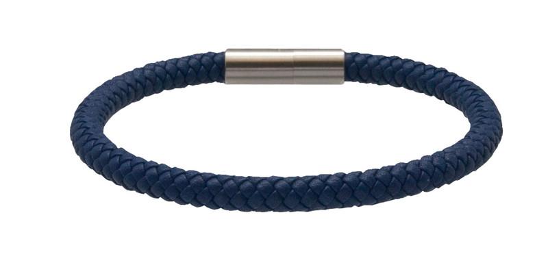 Indigo Blue Leather Bracelet (back)