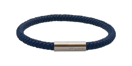 Indigo Blue Leather Bracelet (front)