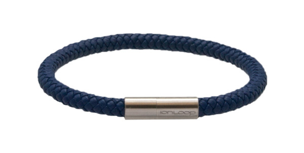 Indigo Blue Leather Bracelet (front)