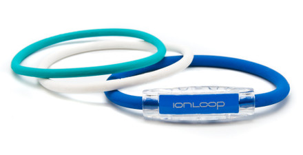 TRI Loop Royal Blue Pak  1 Royal Blue Magnet IonLoop Bracelet, 2 IonThins (Turquoise Sea, Pearl White)