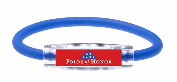 The IonLoop Folds of Honor Bracelet  (front view)