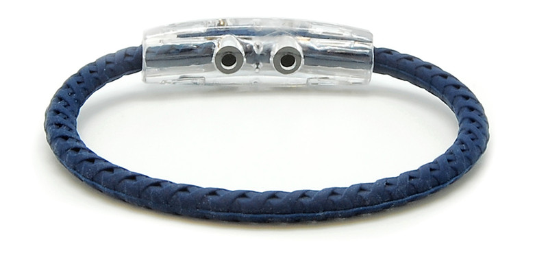 Blue & Brave Braided Navy Bracelet  (back view)