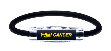 IonLoop Jet Black Fight Cancer Bracelet (front view)
