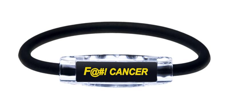IonLoop Jet Black Fight Cancer Bracelet (front view)