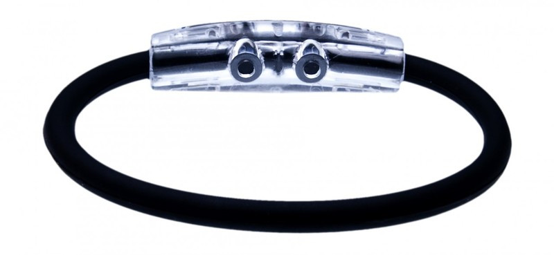 IonLoop Jet Black Fight Cancer Bracelet (back view)