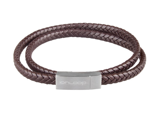 Saddle Brown Double Wrap Leather Braided Bracelet  (NEWLY DESIGN CLASP FOR STYLE AND FASTENING)