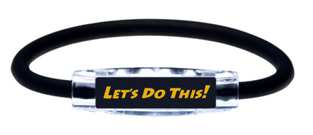 "Michael Breed ""LET'S DO THIS!  Sport Bracelet contains negative ions and magnets (side view)"