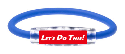 "Michael Breed ""LET'S DO THIS!  Sport Bracelet contains negative ions and magnets (front view)"