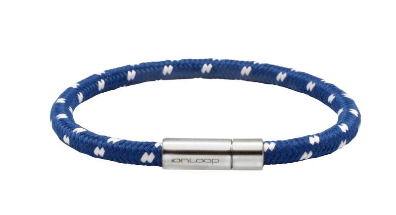 Solo Cord Ice Blue Negative Ion Bracelet