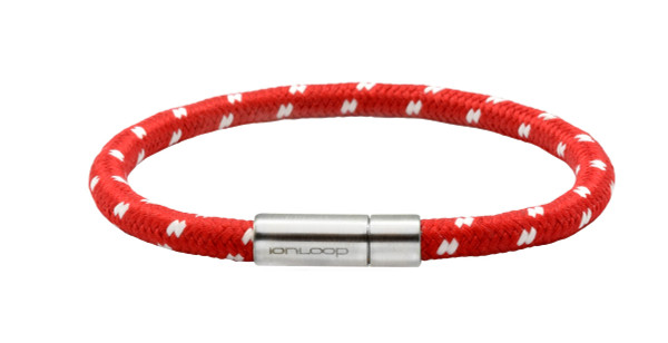 Solo Cord Apple Red Negative Ion Bracelet
