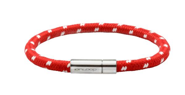 Solo Cord Apple Red Negative Ion Bracelet