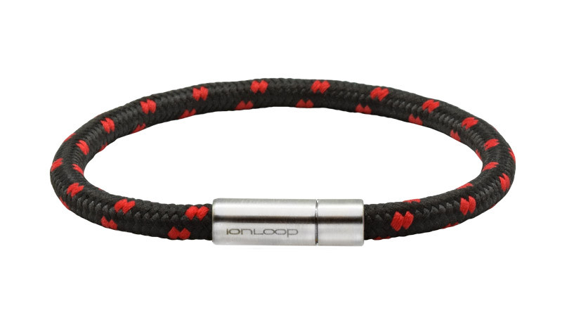 Solo Cord Onyx Red Negative Ion Bracelet Most Popular Color