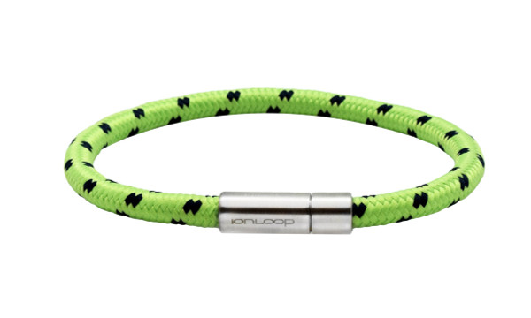 Solo Cord Lime Green Negative Ion Bracelet