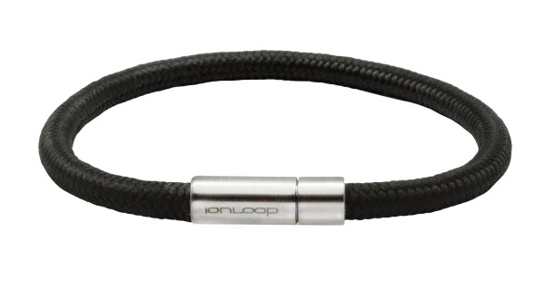 Solo Cord Licorice Black Negative Ion Bracelet