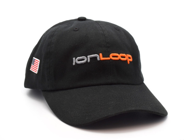 IonLoop Logo Black Men's Fit Hat (front)