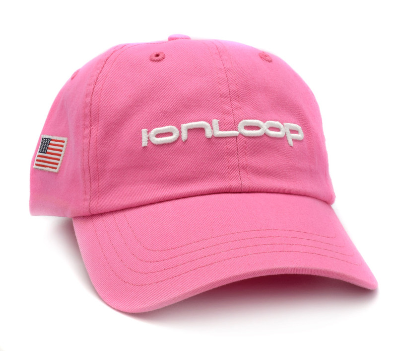 IonLoop Logo Pink Small Fit Hat (front)