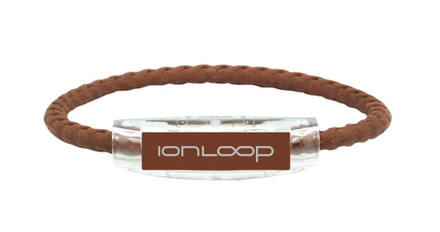 Saddle Brown Braided Bracelet IonLoop Magnet (front view)