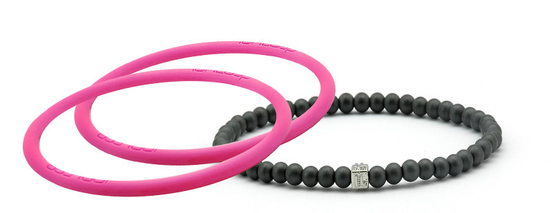 mag/fusion Hot Pink Pak 1 mag/fusion magnetic Bracelet, 2 IonThins (Hot Pink)