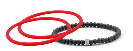 mag/fusion Ruby Red Pak 1 mag/fusion magnetic Bracelet, 2 IonThins (Ruby Red)