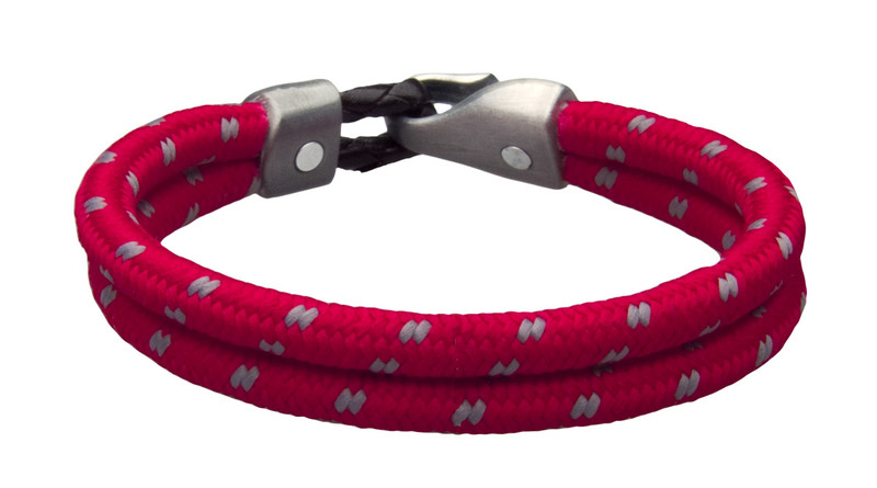 Cardinal Red Dual Cord Bracelet (inside & back)