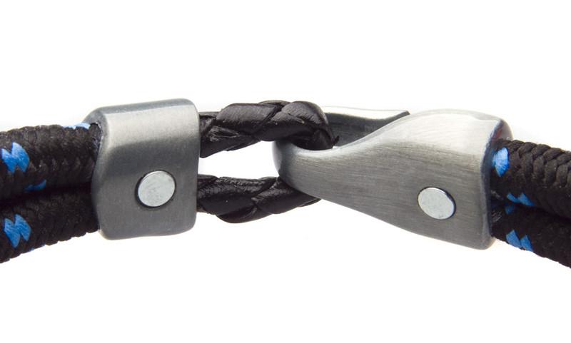 Black Blu Dual Cord Bracelet (magnets)
