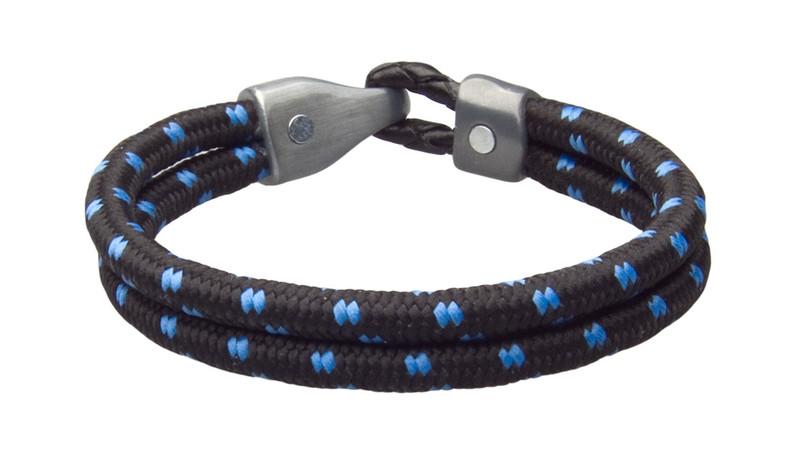 Black Blu Dual Cord Bracelet (inside & black)