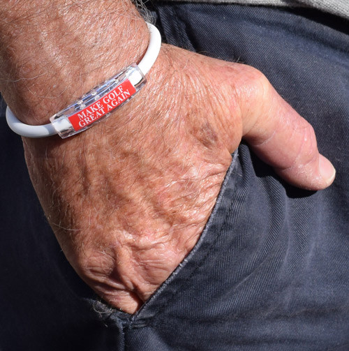"""MAKE GOLF GREAT AGAIN"" Sport Bracelet contains negative ions and magnets"