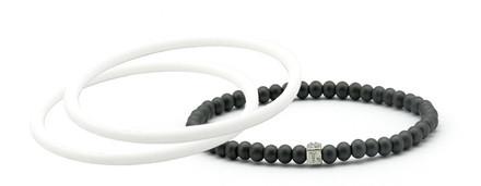 mag/fusion White + White  Pak 1 mag/fusion magnetic Bracelet, 2 IonThins  (White +  White)