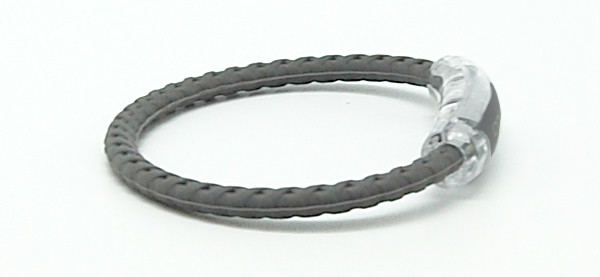 Taylor Made Gray Braided Bracelet (side view)