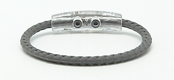 Taylor Made Gray Braided Bracelet (back view)