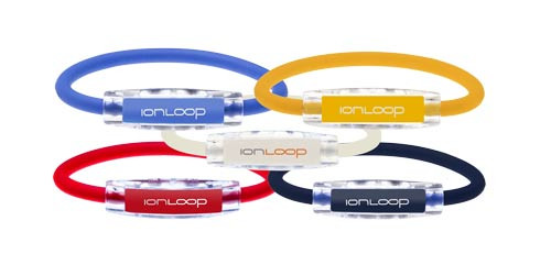 IonLoop Spring Par 5 Value Pak-Mellow Yellow, Royal Blue, Navy Blue, Ruby Red, White Pearl Bracelets.