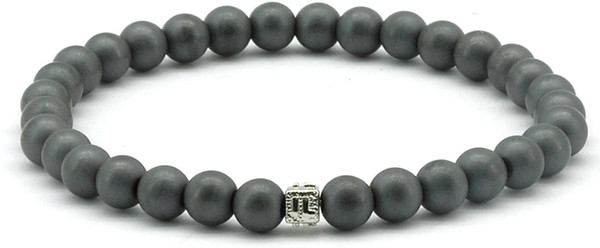 IonLoop  mag/fusion +Plus Bracelet contains medium sized slate gray magnetic pearls (front view)