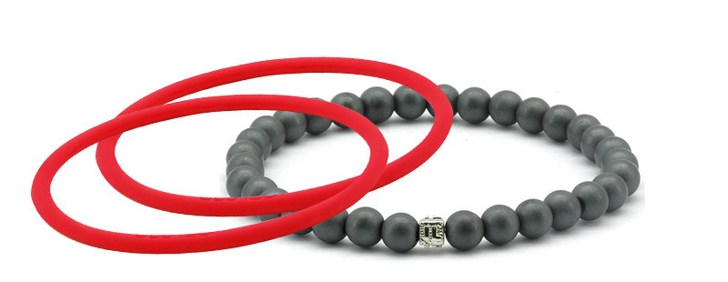 mag/fusion +Plus Ruby Red + Ruby  Red  Pak 1 mag/fusion PLUS magnetic Bracelet, 2 IonThins  (Ruby Red + Ruby  Red)