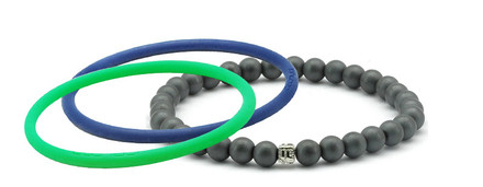 mag/fusion +Plus Royal Blue + Apple Green 1 mag/fusion PLUS magnetic Bracelet, 2 IonThins  (Royal Blue + Apple Green)