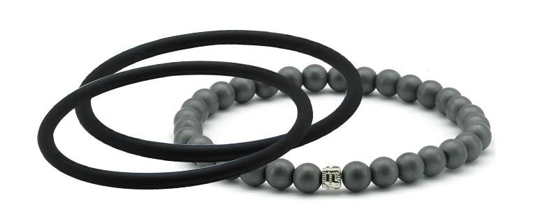 mag/fusion +PlusJet Black + Jet Black 1 mag/fusion PLUS magnetic Bracelet, 2 IonThins  (Jet Black + Jet Black)