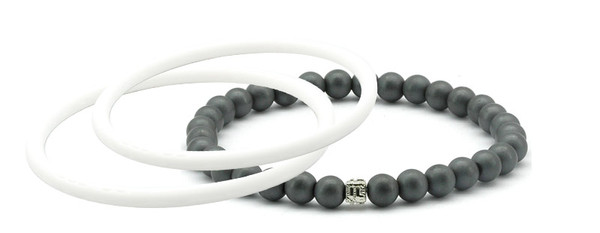 mag/fusion +Plus White Pearl + White Pearl 1 mag/fusion PLUS magnetic Bracelet, 2 IonThins  (White Pearl + White Pearl)