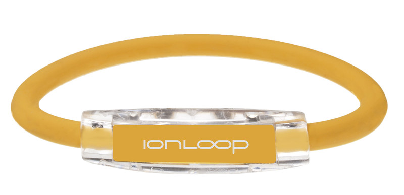 IonLoop Sport Bracelets contains negative ions and magnets (front view)