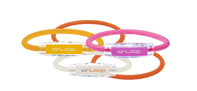 SUNSET 5 PAK Mellow Yellow, Hot Pink, White Pearl Color Series Bracelets & Orange Crush IonThins